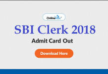 SBI Clerk 2018 Admit Card Out