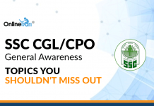 SSC CGL/ CPO General Awareness: Topics You Shouldn't Miss Out
