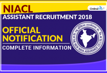 NIACL Assistant Recruitment 2018 Official Notification: Complete Information